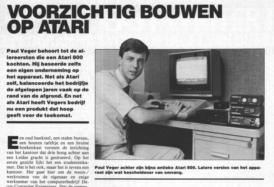 Krantenartikel Atari Paul